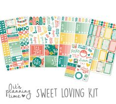 It's Planning Time- Sweet Loving Planner Sticker Kit