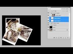 crear un collage Polaroid en Adobe Photoshop CS4