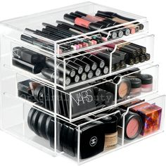 The PRO Beauty Box is the largest acrylic makeup organizer in our collection. It is the ultimate clear makeup holder to keep your vanity tidy. Makeup Up, Makeup Beauty Box, Diy Makeup, Makeup Case, Makeup Brushes, Makeup Dresser, Makeup Vanities, Contour Makeup, Makeup Geek