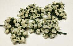 Artificial Flowers  144 CREAM Poly Dry Rose Bud by BlissfulSilks, $5.99