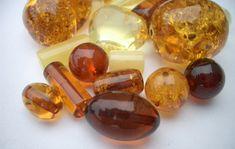 Various amber beads