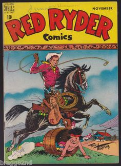 1948 Dell RED RYDER COMICS #64 comic book GOLDEN AGE Fred Harman LITTLE BEAVER