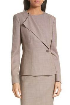 Alternate Image 1  - BOSS Jelanisa Tweed Suit Jacket