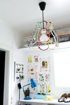 DIY lamp. Cool.