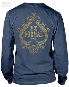 Fresh New Designs!! Visit our site to get your customized order started. Delta Zeta | Formal | Casino Night | Vegas | Lady Luck | Sorority Shirts | Sorority Tees | Sorority Tanks | Greek Tees | Greek Tanks | Sorority Shirt Ideas | Greek Shirts