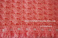 Free Crochet Baby Blanket Pattern in Shell Stitch | Free Crochet ...