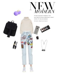 """""""90'"""" by alessiagianistyle on Polyvore featuring moda, GCDS, Max Factor, Eos, Essie e Witchery"""