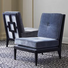 Graphic Glamour.Perfect for a small sanctuary, the armless design of our Nixon Slipper Chair takes up little room both spatially and visually. The frame fe