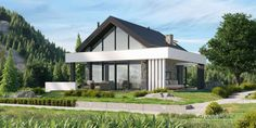 Projekt domu HomeKONCEPT-65 A | HomeKONCEPT Bungalow House Design, Small House Design, Passive House, Cabin Design, Japanese House, Design Case, My Dream Home, Gazebo, Architecture Design