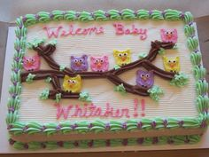 Owl Baby Shower Sheet Cakes | Carolyn's Specialty Cakes Gallery « Carolyn's Cupcakes