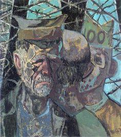 Otto Dix - Selbstbildnis (1947) als Kriegsgefangener