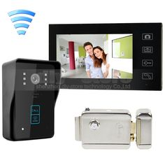 195.66$  Buy here - http://aliat2.worldwells.pw/go.php?t=32709992591 - DIYKIT Wireless 7Inch Video Door Phone Intercom Doorbell Home Security Touch RFID Camera + Electric Lock Security Entry Intercom 195.66$