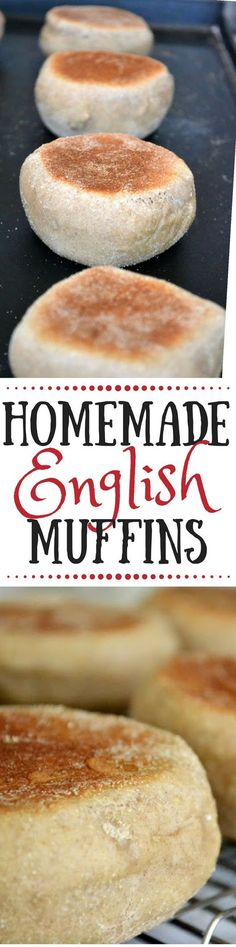 How to Make Easy English Muffins ~ this simple recipe yields tall, fluffy, flavorful English muffins ~ I've never been more excited to wake up and pop an English muffin in the toaster. Healthy Bread Recipes, Best Bread Recipe, Cooking Recipes, Muffins Sains, Pain Artisanal, Pain Pizza, Easy Biscuit Recipe, Homemade English Muffins, Gastronomia