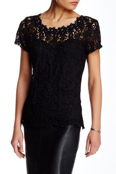 Soieblu - Embellished Neck Tee at Nordstrom Rack. Free Shipping on orders over $100.