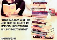 Reading: It's not passive; it's active #BookHugs #BooksThatMatter #BloomingTwigBooks #BloomingTwig #Books