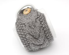 Possibly the cutest thing ever- Hand Knit Mug Warmer or Cup Cosy