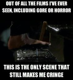 Home Alone... Haha! I don't watch gore or horror movies, but it's still funny!