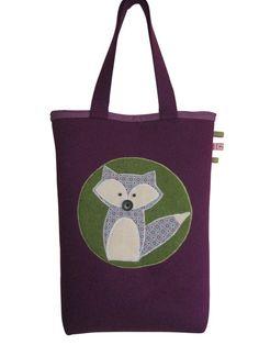 Einkaufstasche Filz Tragetasche Lila Shopper von MargritliDesign