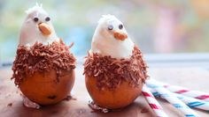 hilarious and slightly creepy--a bald eagle made from a pear. seriously 4th themed food :P