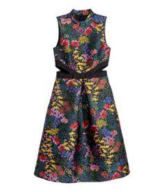 Erdem x H&M Jacquard Floral Print Dress