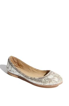 Frye flats...bought this yesterday and LOVE them!  Hurry, they're selling out fast (and worth the $)!