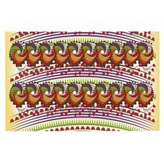 KESS InHouse Famenxt 'Colorful Traditional Pattern' Multicolor Digital Dog Place Mat, 13' x 18' >>> Check this awesome image  : Dog food container
