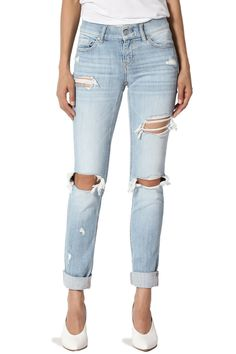 3facf6686ee5 TheMogan Womens Distressed Slim Straight Relaxed Roll up Crop Jeans Light 9    You can find