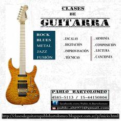 Clases de Guitarra :      Pablo Bartolomeo: Contenido: