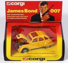 Corgi 'James Bond' For Your Eyes Only Citroen Metal Toys, Tin Toys, James Bond Cars, Step On A Lego, Custom Hot Wheels, Old School Toys, Corgi Toys, Nintendo, Childhood Toys