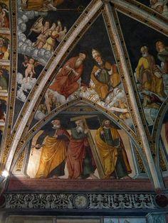Simone II Baschenis - Apostoli e Dottori della Chiesa - affresco - 1539 - abside Chiesa di San Vigilio a Pinzolo (Trento, Italia)