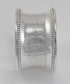 Silver Napkin Ring Engine Turned 1918 c