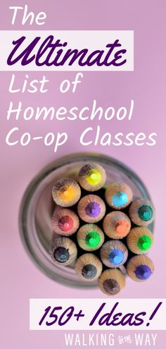 The Ultimate List of Homeschool Co-op Class Ideas - Walking by the Way
