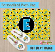 Personalized Karate Rug - Personalized Plush Rug - Personalized Nursery Rug - Children Rug - Nursery Karate Rug - Sports Bedroom