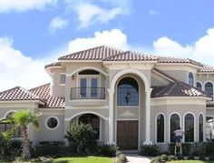 This firm offers several property maintenance services including pressure washing, screen enclosure cleaning and window washing. They clean out rain gutters too. They use only eco-friendly products. Classic House Design, Dream Home Design, Modern House Design, Modern House Facades, Beautiful House Plans, Home Building Design, Bungalow House Design, Luxury Homes Dream Houses, Mediterranean Homes