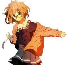 • anime kawaii skirt transparent render knk Kyoukai no Kanata mirai kuriyama transparent-blossoms •