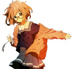 • anime kawaii skirt transparent render knk Kyoukai no Kanata mirai kuriyama transparent-blossoms •