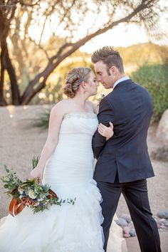 Earthy Wedding Inspiration by Simply Refined Events captured by Minson Weddings at The Clubhouse at Tonto Verde | Arizona Weddings Magazine