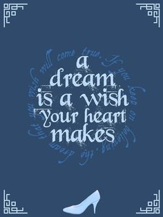 Cinderella - A dream is a wish your heart makes - Project Life Filler Card