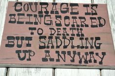 John Wayne Quote on 11x14 Canvas. $30.00, via Etsy.