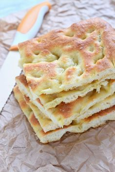 Try this Focaccia genovese recipe, or contribute your own. Pastry Recipes, Pizza Recipes, Cooking Recipes, Focaccia Genovese Recipe, Other Recipes, Great Recipes, Pizza Sale, Pizza Food Truck, My Favorite Food