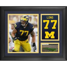 """Jake Long Michigan Wolverines Fanatics Authentic Framed 15"""" x 17"""" Campus Legend Collage"""