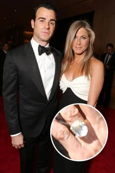 Justin Theroux popped the question to Jennifer Aniston on his 41st birthday with the help of this massive sparkler.