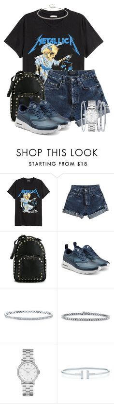 """""""."""" by queenme10 ❤ liked on Polyvore featuring Versace, Valentino, NIKE, Anne Sisteron, BERRICLE, Marc by Marc Jacobs, Tiffany & Co. and ALDO"""