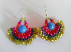 Ethnic beaded earrings Earrings Beaded by CristinaMyCrochet