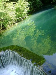 Krupaja Spring, Serbia, The Green Waterfall. The Places Youll Go, Places To See, Beautiful World, Beautiful Places, Expressions Photography, Les Cascades, Beautiful Waterfalls, Belleza Natural, Wonders Of The World