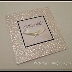 'SPARKLE' wedding invitation  www.facebook.com/PerfectlyInvitingDesigns