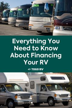 An RV is a major purchase, so it's important to understand RV financing before picking out your new dream rig. Bank Of The West, Rv Show, Rv Financing, Local Banks, Unsecured Loans, Loan Calculator, Good Credit Score, Used Rvs, Car Loans