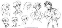 Valiard Main Cast Sketches - August 2015 by The-Ez.deviantart.com on @DeviantArt