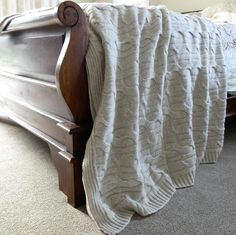 The softest lambswool is selected for this luxurious warm lambswool throw. Each one is handmade featuring a beautiful cable stitch design. Double Beds, Stitch Design, Cable, Cushions, Warm, Blanket, Luxury, Big, Cover