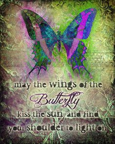"""MAY THE WINGS inspirational Irish blessing butterfly art print, butterfly gift print, 8"""" x 10"""""""